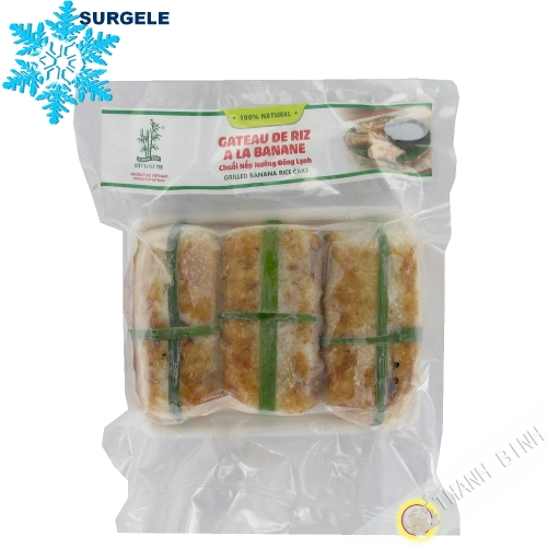 Rice cake with banana 3 BAMBOO 500g Vietnam - SURGELES