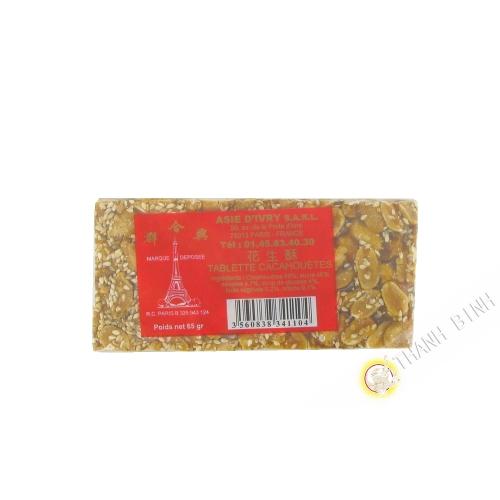 Tablette Cacahuète ASIE d'IVRY 65g France