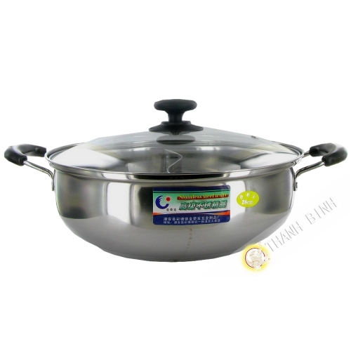 Pot fondue stainless steel 28cm JIN RONG FA China