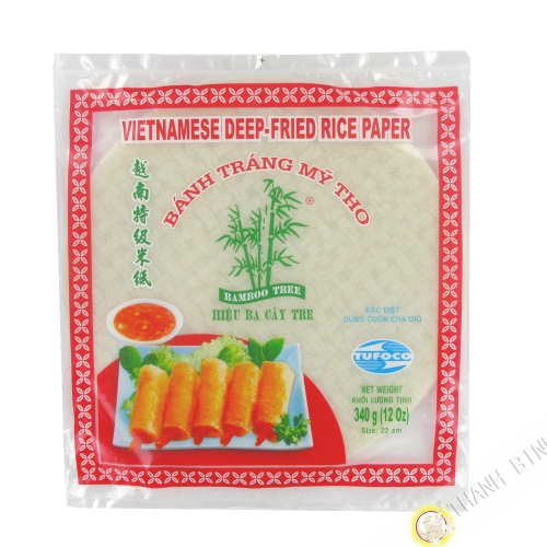 Galette de riz 22cm pour nems 3 BAMBOU 340g VIETNAM