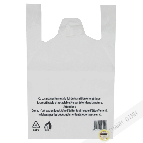 Bolsa de bretel blanco PM 26x12x45cm 50pcs 350g de China