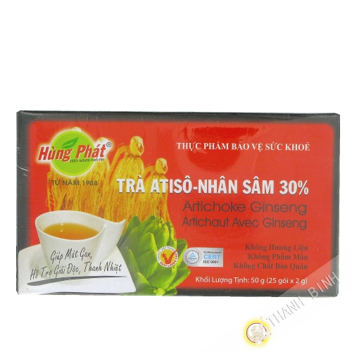 Tea artichaud with ginseng HUNG PHAT 25x2g Vietnam