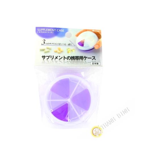 Doseuse à medicament violette Ø7,5cmx3,8cm INOMATA Japon