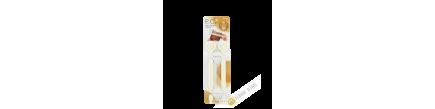 Clip / clamp farm plastic sachet ivory 3x19cm, lot of 2pcs INOMATA Japan
