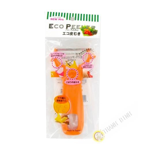 Eplucheur Eco Kawamuki de plástico 14cm KOHBEC Japón