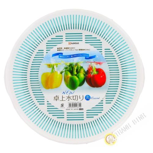 Kit de rack de plástico Cesta de Disipador de Verduras blanco Ø24cm NAKAYA Japón