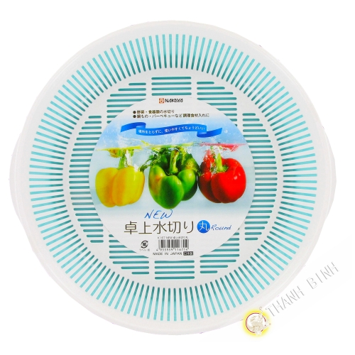 Kit tropfschale kunststoff-Korb Spüle Gemüse weiß Ø24cm NAKAYA, Japan