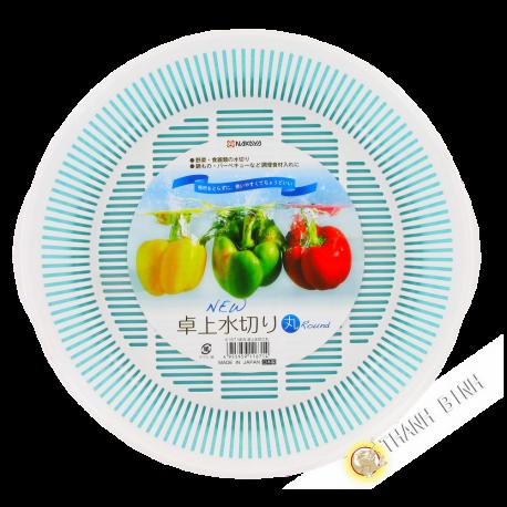 Kit égouttoir plastique Panier Evier Légumes blanc Ø24cm NAKAYA Japon
