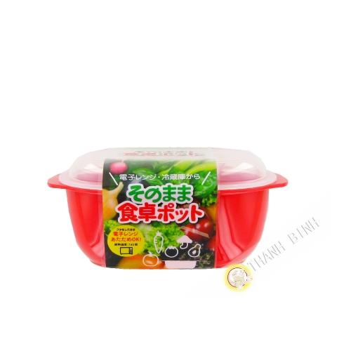 Boîte alimentaire rectangle mirco-onde 470ml 11x15xH6cm NAKAYA Japon
