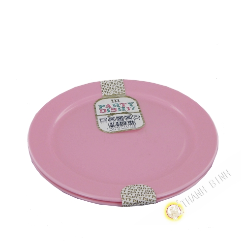 Dinner plates plastic for party, lot of 2pcs Ø17cm NAKAYA Japan
