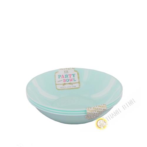 Mini bol plastique pour fête 270ml, lot de 3pcs 13xH3cm NAKAYA Japon