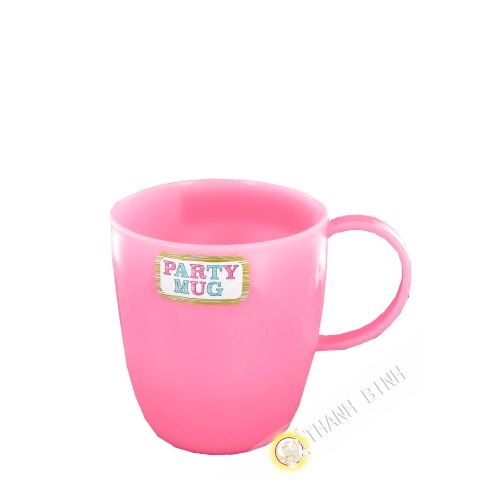 Small mug cup plastic for party white 320ml mirco-ondable 7x9cm NAKAYA Japan
