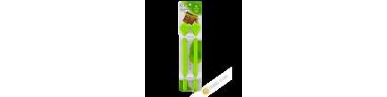 Clip / clamp farm plastic sachet green 3x24,5cm, lot of 2pcs INOMATA Japan