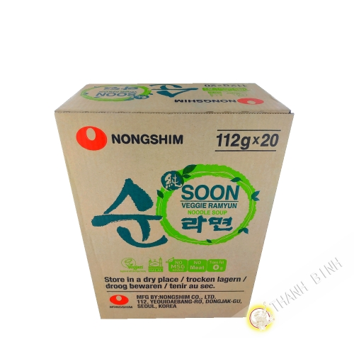 Soup nouillle vegetable Soon Veggi Ramyun NONGSHIM 112g Korea