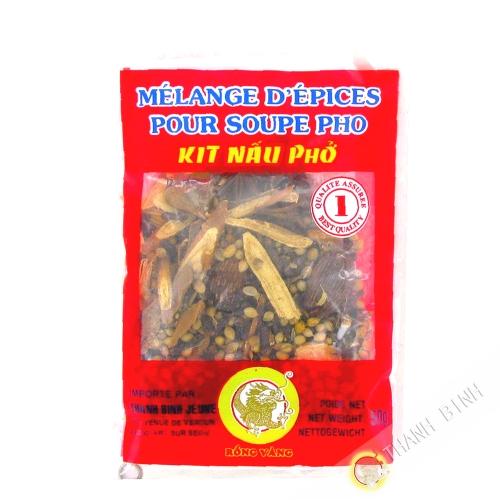 Mezcla de especias para la sopa pho DRAGÓN de ORO 50g de Vietnam