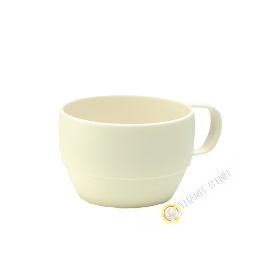 Cup plastic micro-ondable ivory 350ml 6x9,5cm m-o INOMATA Japan
