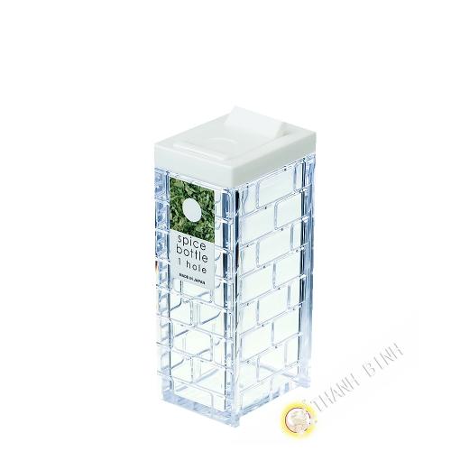 Boîte épice à grain plastique blanc 1 trou Ø1,2cm 4x9cm INOMATA Japon