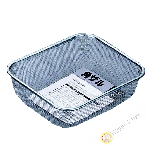 Square basket stainless steel 16x19x5,5cm KOHBEC Japan