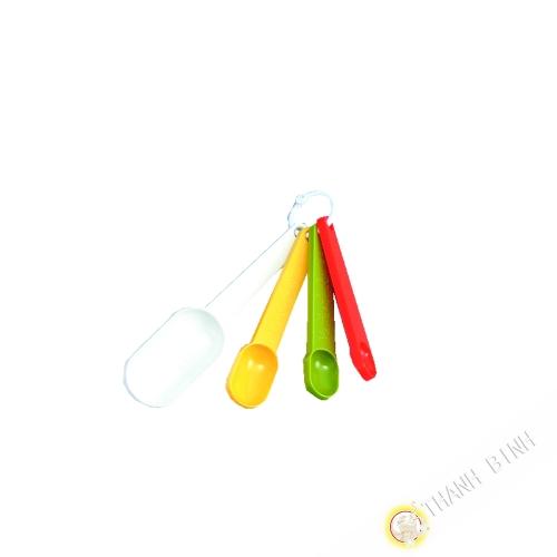 Cucchiaio per misurare plastica, lotto di 4 pezzi da 10 a 13 cm KOHBEC Giappone