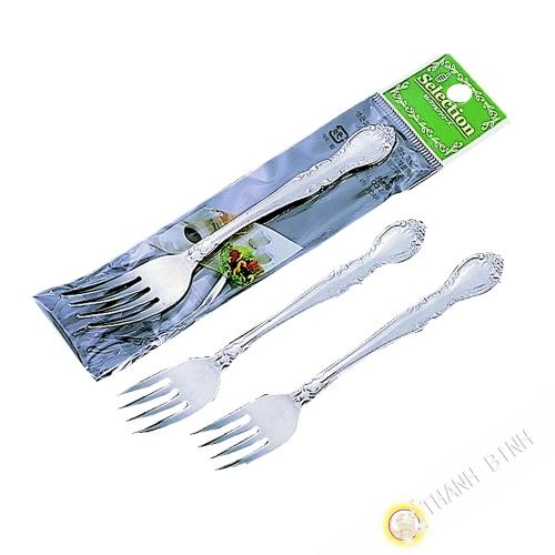 Tenedor, ensalada/postre, lote de 3 piezas de acero inoxidable de 14cm KOHBEC Japón