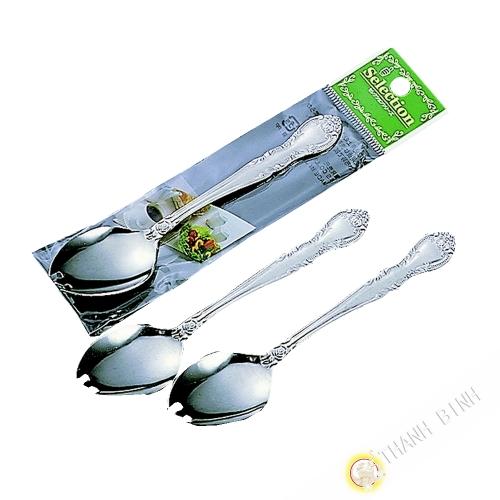 Té cuchara para melón, lote de 3 piezas de acero inoxidable de 13 cm KOHBEC Japón