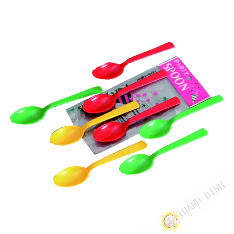 Spoon plastiquec lot of 8pcs 14cm KOHBEC Japan