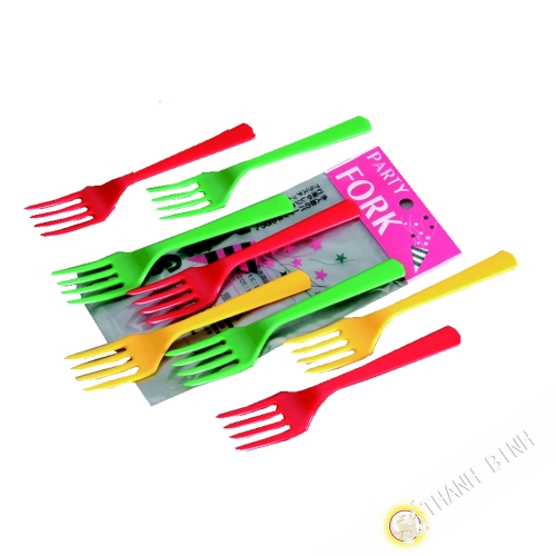 Small Fork plastic, lot of 8pcs 14cm KOHBEC Japan