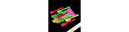 Small Fork plastic, lot of 8pcs 14cm KOHBEC Japan