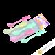 Spoon plastic pack of 5pcs 13cm KOHBEC Japan