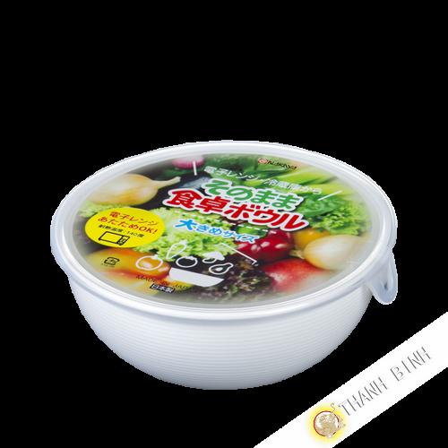 Casella di cibo giro, forno a microonde 1L Ø17xH6cm NAKAYA Giappone