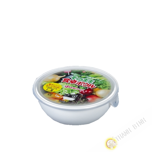 Cuadro de comida redonda, micro-ondas aproximadamente 480 ml Ø14xH5cm NAKAYA Japón