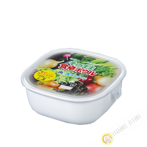 Boîte alimentaire carré micro-onde 860ml 14xH6cm NAKAYA Japon