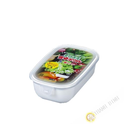 Casella di cibo rettangolo forno a microonde 500ml 10x16xH5cm NAKAYA Giappone