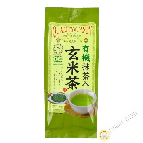 Matcha green tea with puffed rice organic SOAN 150g Japan