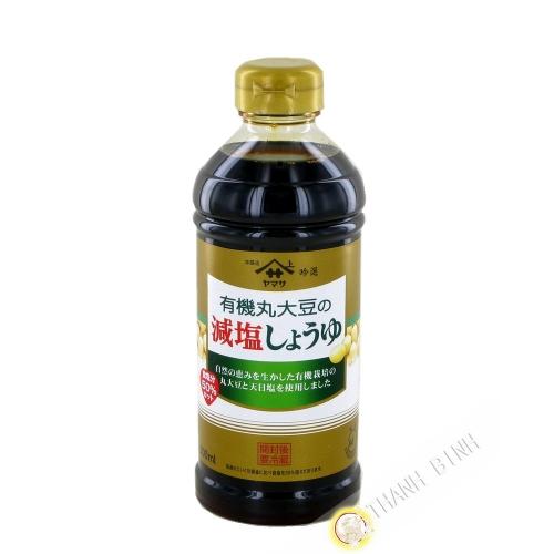 La Salsa de soya reducida en sal orgánica de YAMASA 500ml Japón