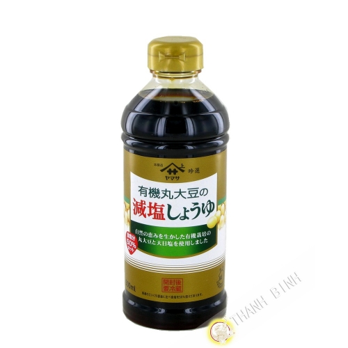 Soy Sauce reduced salt organic YAMASA 500ml Japan