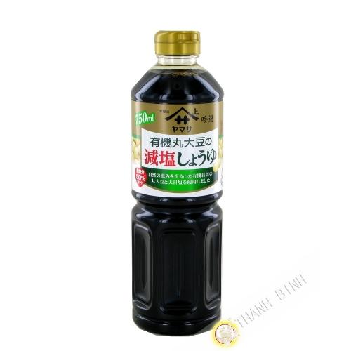La Salsa de soya reducida en sal orgánica de YAMASA 750 ml Japón