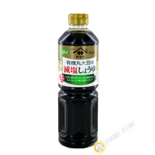 Soy Sauce reduced salt organic YAMASA 750ml Japan