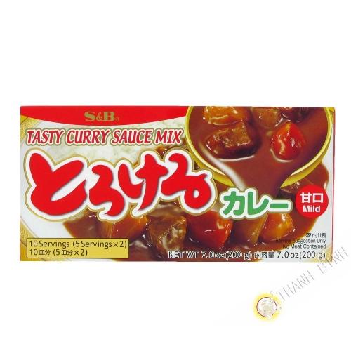 Tableta de curry suave SB 200g de Japón