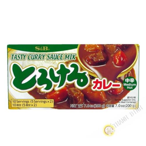 La tableta de curry medio SB 200g de Japón