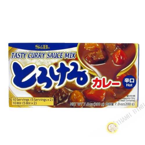 Tablette de curry épicé SB 200g Japon