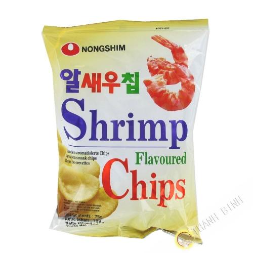 Los Chips de camarón NONGSHIM 75 g de Corea