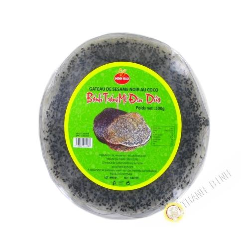 Pastel de sésamo negro y coco MINH HAO 500g de Vietnam
