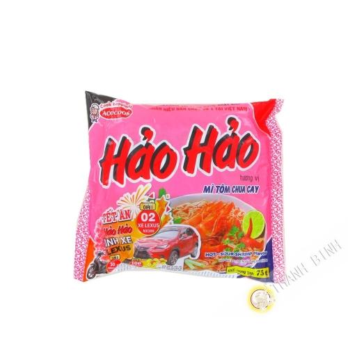 Soup instant noodle HAO HAO shrimp sour spice ACECOOK 75g Vietnam