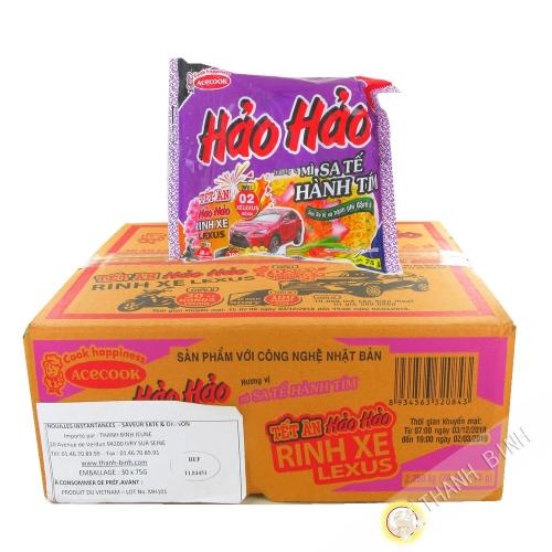 Soupe nouille instantanée HAO HAO saté onion ACECOOK carton 30x75g Vietnam