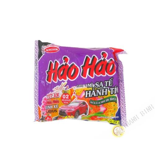 Sopa de fideos instantáneos HAO HAO estado de cebolla ACECOOK 75g de Vietnam