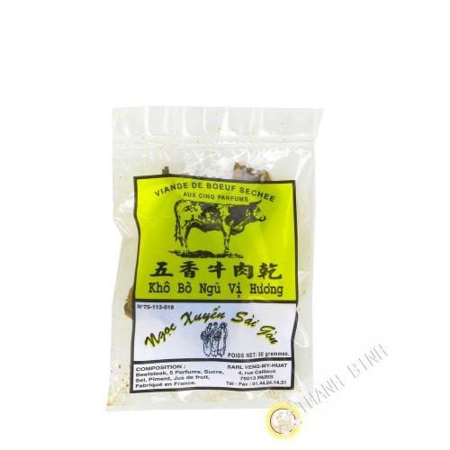 Beef dry five perfume NGOC XUYEN 50g France