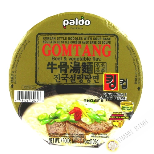 Soup noodle with beef and vegetables Gomtang Cup PALDO 105g Korea
