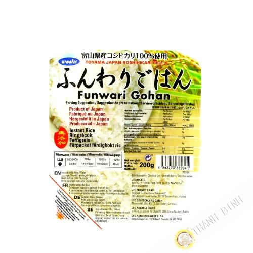 Arroz Funwari cocido TOYAMA 200g de Japón