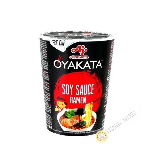 Suppe, nudel-Ramen Shoyu Oyakata-cup AJINOMOTO 63G Japan